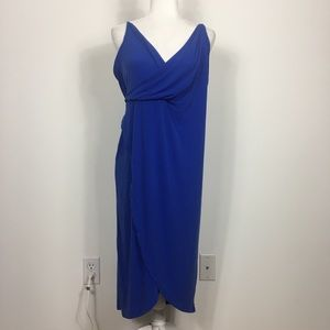 NWT ASOS Blue V Neck Midi Dress